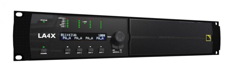 L-ACOUSTICS Launches LA4X Amplified Controller