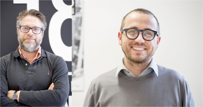 Francesco Spapperi (Eighteen Sound CEO) and Matteo Bianchini (OEM Sales Direcrtor)