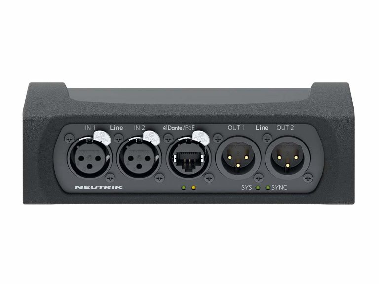 Neutrik Announces NA2-IO-DLINE Dante™ I/O Interface