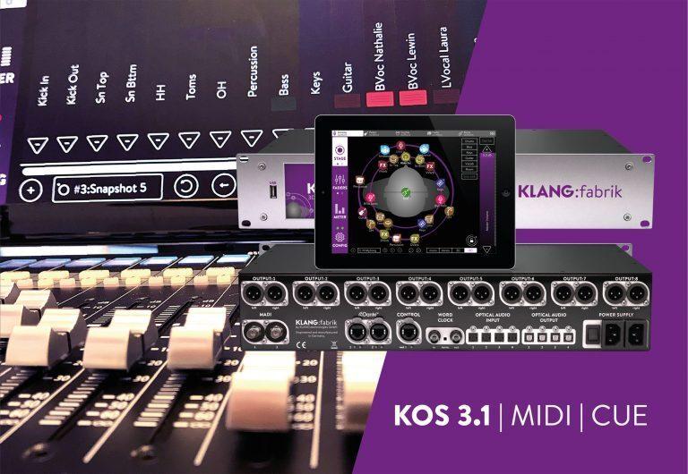 KLANG:technologies Debuts KOS 3.1 at InfoComm 2018