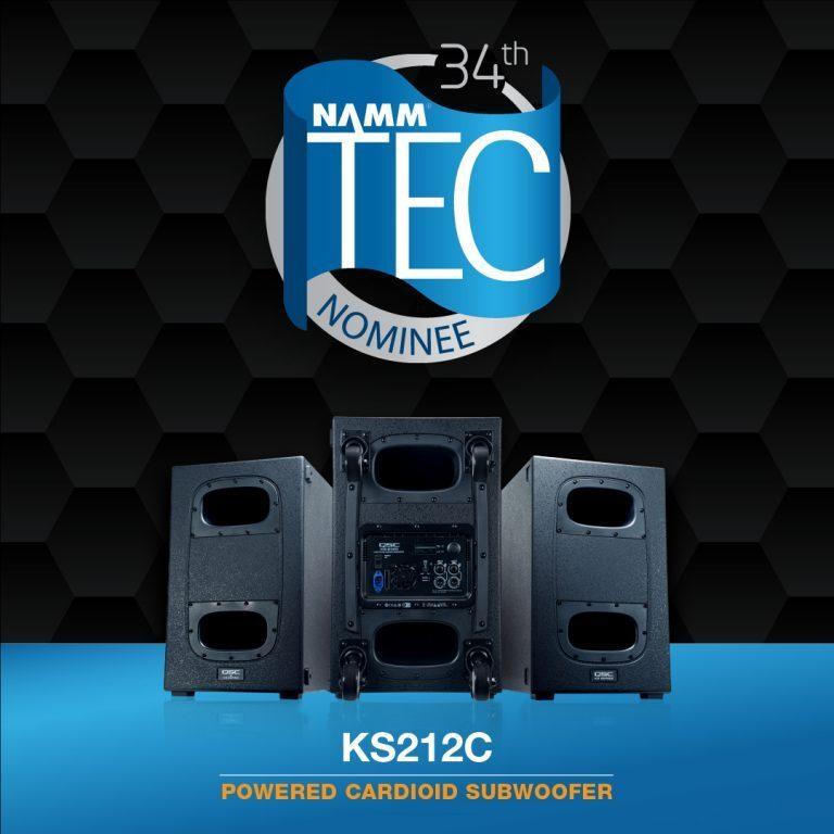 QSC KS212C Subwoofer Nominated for a 2019 TEC Award