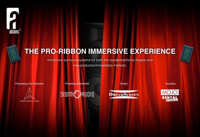 New Products And The Award-Winning Pro-Ribbon Immersive Experience From Alcons Audio At ISE 2019