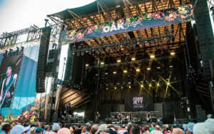 Joan Jett and the Blackhearts performing on the L-Acoustics K1/K2 system at Bourbon & Beyond's Oak Stage