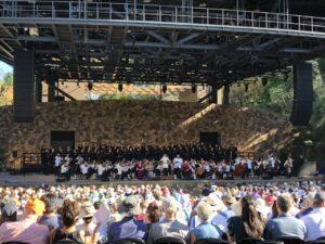 d&b GSL and Soundscape enhance acoustic environment for outdoor venue.