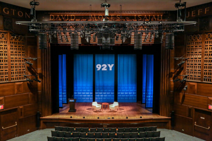 92nd Street Y's Kaufmann Concert Hall, home to a new L-ISA Hyperreal Sound technology design from L-Acoustics