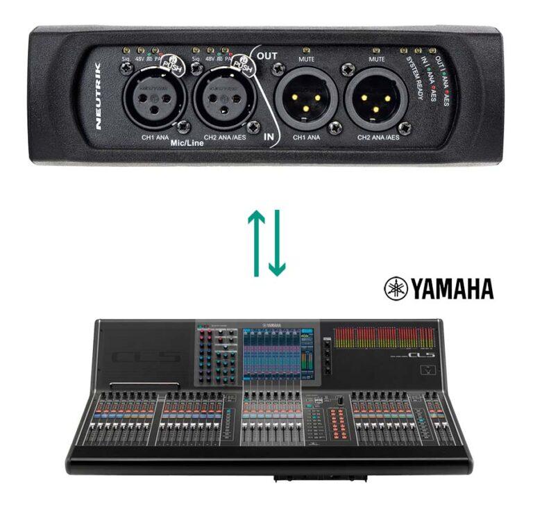 Neutrik NA2-IO-DPRO Mic Preamp Control Added to Yamaha CL/QL Series