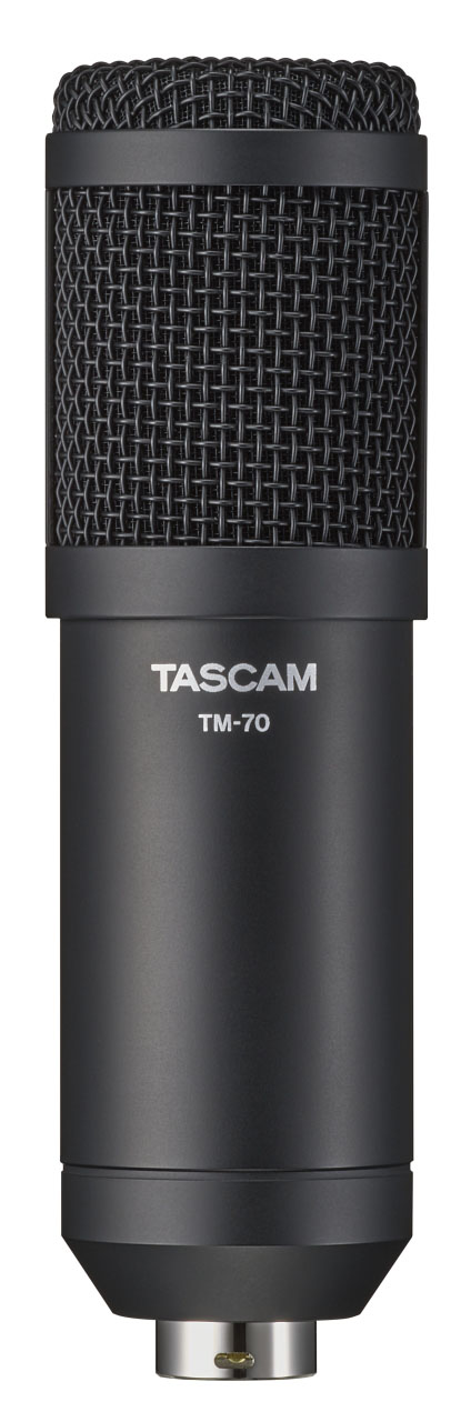 TASCAM Announces the TM-70 Dynamic Microphone for Broadcasting